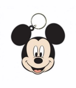 DISNEY MICKEY MOUSE RUBBER KEYCHAIN
