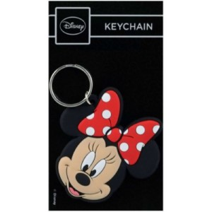 DISNEY MINNIE MOUSE RUBBER KEYCHAIN
