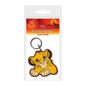 LION KING SIMBA RUBBER KEYCHAIN