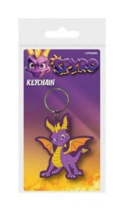 SPYRO THE DRAGON RUBBER KEYCHAIN