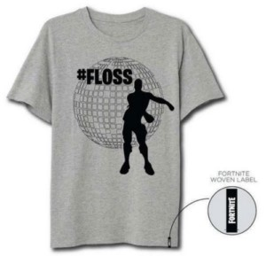 FORTNITE FLOSS GRIS XL T-SHIRT