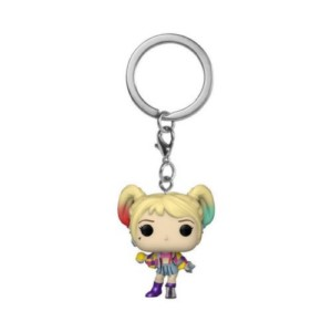 POP KEYCHAIN BIRDS OF PREY HARLEY QUINN CAUTION