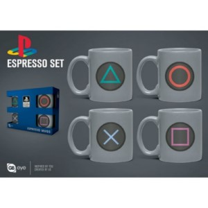 4 MINI MUGS SET PLAYSTATION ESPRESSO