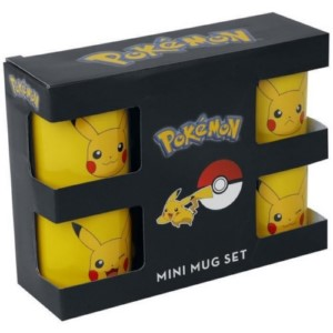 4 MINI MUGS SET POKEMON PIKACHU ESPRESSO