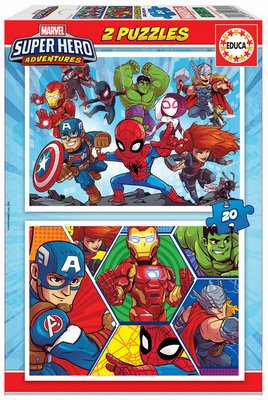 MARVEL SUPERHEROES 2X20 PUZZLE
