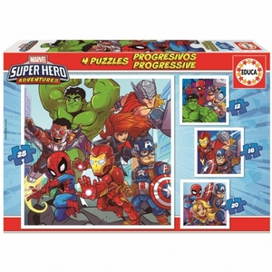 MARVEL SUPERHEROES PROGRESSIVE PUZZLE