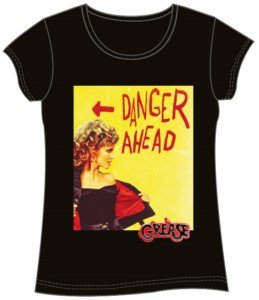 T-SHIRT GIRLY GREASE DANGER AHEAD XL