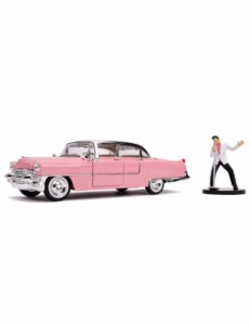 METAL REPLICA CAR ELVIS PRESLEY CADILLAC 1955 1:24 7 CM
