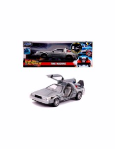 METAL REPLICA CAR REGRESO AL FUTURO 2 DELOREAN 1:24 7 CM