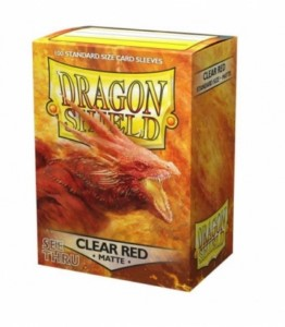 DRAGON SHIELD MATTE SLEEVES CLEAR RED (100)