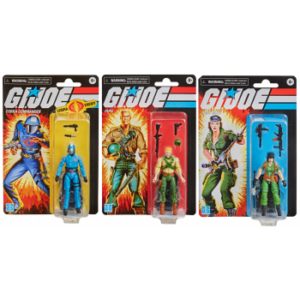 HASBRO G.I.JOE WAVE 1 RETRO FIGURE DISPLAY (6)