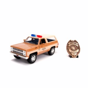STRANGER THINGS SHERIFF CHEVY K5 METAL CAR 1:24