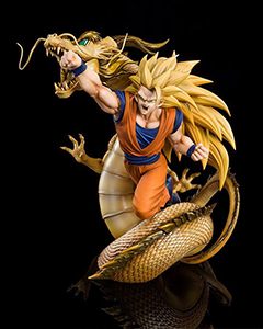 DRAGON BALL PVC GOKU SUPER SAIYAN 3 DRAGON FIGURE 21 CM