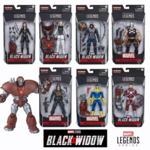 HASBRO MARVEL LEGENDS BLACK WIDOS CASE (8)