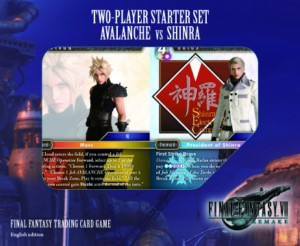 FINAL FANTASY TCG SET 2 JUGADORES AVALANCH VS SHINRA