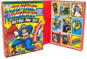 MARVEL CAPTAIN AMERICA RETRO PING BADGE LIMITED SET