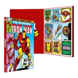 MARVEL IRON MAN RETRO PING BADGE LIMITED SET