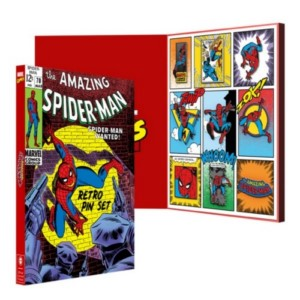MARVEL SPIDER-MAN RETRO PING BADGE LIMITED SET