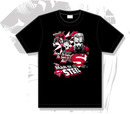 Camiseta negra superman man of steel l