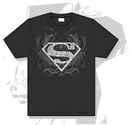 Camiseta gris superman tatuaje s