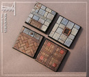 Taban bases: classic castle floor, square 40mm