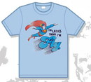 Camiseta superman retro azul fly xl