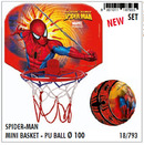 Canasta mini y pelota spiderman