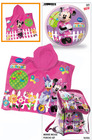 Set playa bolsa +poncho + balon minnie