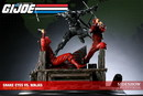 Figura estatua gijoe snake eyes vs red ninjas