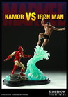 Figura estatua namor vs iron man
