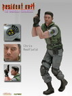 Figura estatua resident evil chris redfield 30 cm