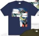 Camiseta mazinger z difuminado azul s