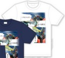 Camiseta mazinger z difuminado blanco s