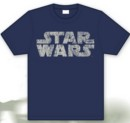 Camiseta star wars azul logo s