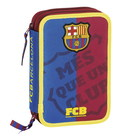 F.C. Barcelona MES-SMALL DOUBLED FILLED PENCIL CASE 34 pcs.