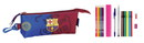 F.C. Barcelona MES-FILLED OVAL PENCIL CASE 17 PCS