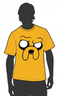 T-SHIRT ADVENTURE TIME ANGRY JAKE XL