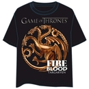 GAME OF THRONES T-SHIRT - TARGARYEN LOGO XXL
