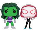 FIGURA POP MARVEL PACK: SHE HULK AND SPIDER GWEN