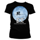 T-SHIRT GIRL E.T BIKE AND MOON L