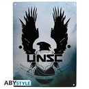 PLACA DE METAL HALO UNSC 28X38