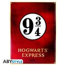 PLACA DE METAL HARRY POTTER 9 3/4 28X38
