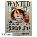 PLACA DE METAL ONE PIECE LUFFY 28X38
