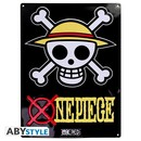 PLACA DE METAL ONE PIECE SKULL 28X38