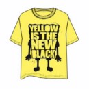 SPONGEBOB SQUAREPANTS T-SHIRT YELLOW IS L
