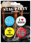 Pack 4 chapas stag night